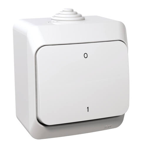 Schneider WDE000520 CEDAR PLUS Kétpólusú kapcsoló, IP44, fehér (102)