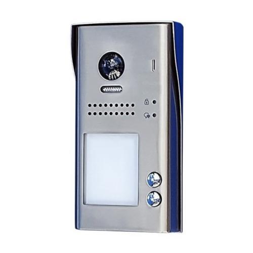 V-TEK DT607C/S2/RH 2 gombos kültéri kaputelefon IP54, fémházas kivitel, beépített kamerával