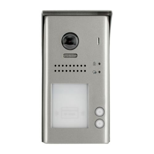 V-TEK DT607/FE/ID/S2/RH két gombos kültéri kaputelefon beépített kamerával, felület szerelt, fémházas kivitel IP54