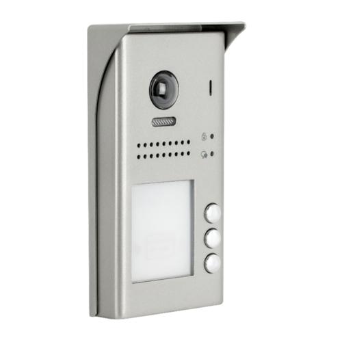 V-TEK DT607/FE/ID/S3/RH három gombos kültéri kaputelefon beépített kamerával, felület szerelt, fémházas kivitel IP54
