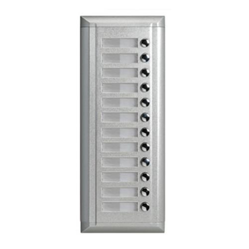 V-TEK EP11S/S12 kültéri kaputelefon 12 gombos, társasházi lakásokhoz