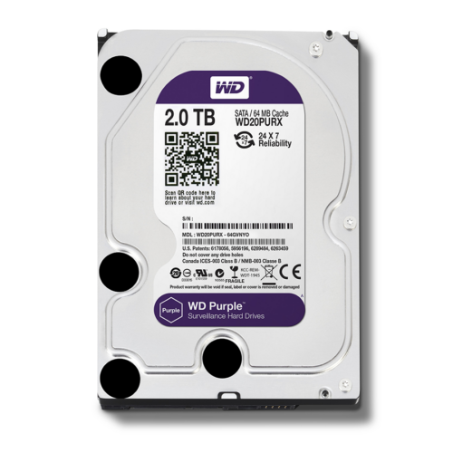"HDD Western Digital Purple 2000GB SATA3 3,5"" (Rögzítőkhöz ajánljuk!)"