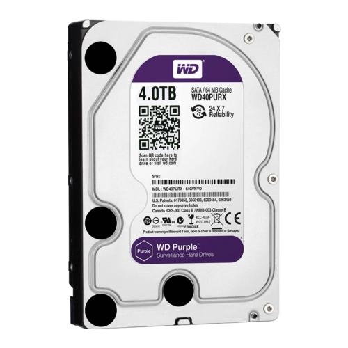 "HDD Western Digital Purple 4000GB SATA3 3,5"" (Rögzítőkhöz ajánljuk!)"